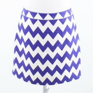 White purple chevron twill KATE SPADE A-line skirt 8-Newish