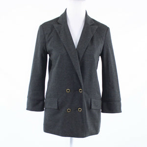 Charcoal gray ANTHROPOLOGIE CARTONNIER 3/4 sleeve blazer jacket S