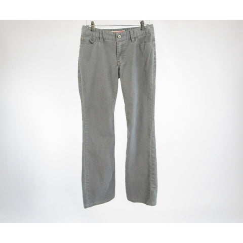 Light gray corduroy GAP Curvy Flare stretch flare pants 2