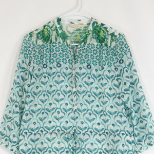 White green floral print ETCETERA tunic dress 2