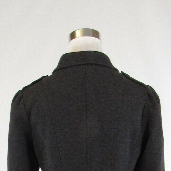 Charcoal gray FILTRE stretch double breasted long sleeve jacket S