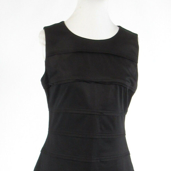 Black cotton blend MARC NEW YORK Andrew Marc sleeveless sheath dress 10-Newish