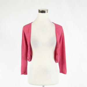 Light red REBECCA TAYLOR 3/4 sleeve bolero sweater M-Newish
