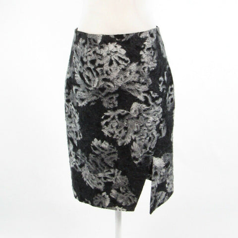 Charcoal gray textured abstract DONCASTER COLLECTION pencil skirt 6