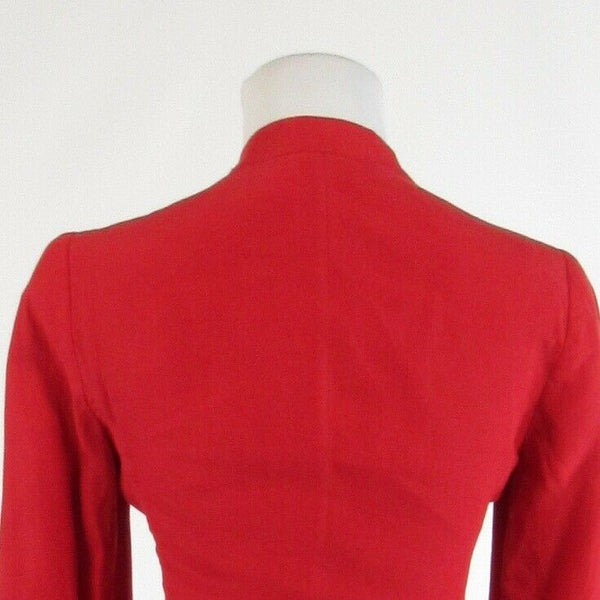 Red 100% linen ARMANI COLLEZIONI long sleeve blazer jacket 2