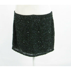 Dark green HAUTE HIPPIE beaded mini skirt L-Newish