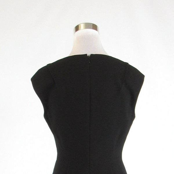 Black CALVIN KLEIN stretch cap sleeve sheath dress 6-Newish