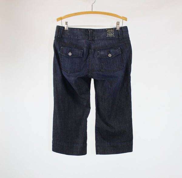 Medium rinse stretch cotton blend LUCKY BRAND cropped jeans 8