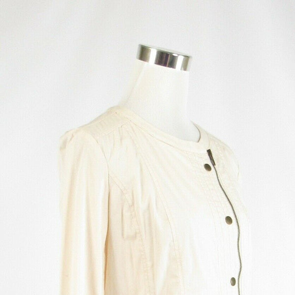 Light beige cotton blend CHICO'S long sleeve jacket 0 XS 4-Newish