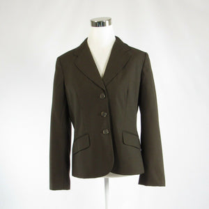 Brown pinstripe ANN TAYLOR long sleeve jacket 10