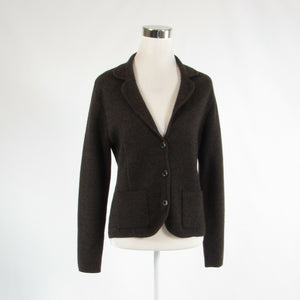 Dark brown VALERIE STEVENS long sleeve blazer jacket S