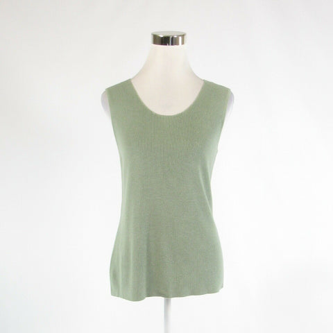 Sage green CHICO'S sleeveless sweater ribbed 1 S 8-Newish