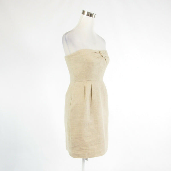 Light beige gold cotton blend J. CREW sleeveless sheath dress 2-Newish