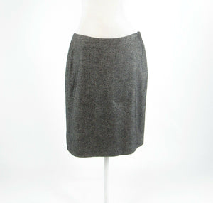 Charcoal gray wool blend TALBOTS pencil skirt 10