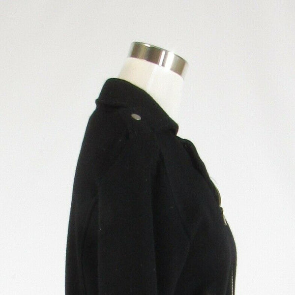 Black 100% wool 525 AMERICA stretch 3/4 sleeve motorcycle jacket M-Newish