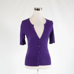 Purple ANN TAYLOR 1/2 sleeve cardigan sweater XS