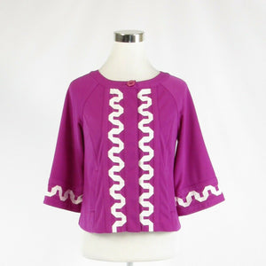 Fuchsia pink CHLOE DAO Simply stretch bell sleeve jacket XS-Newish