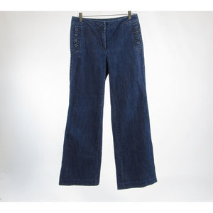 Dark rinse cotton blend HERITAGE bootcut jeans 6