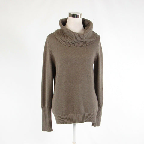Taupe 100% cotton BANANA REPUBLIC long sleeve split turtleneck sweater M