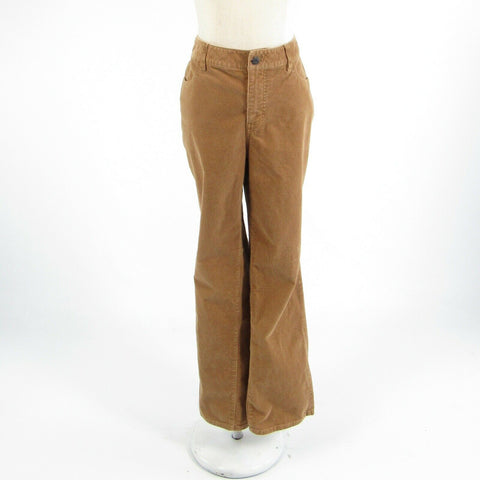 Light brown corduroy TALBOTS Heritage stretch straight leg pants 16WP