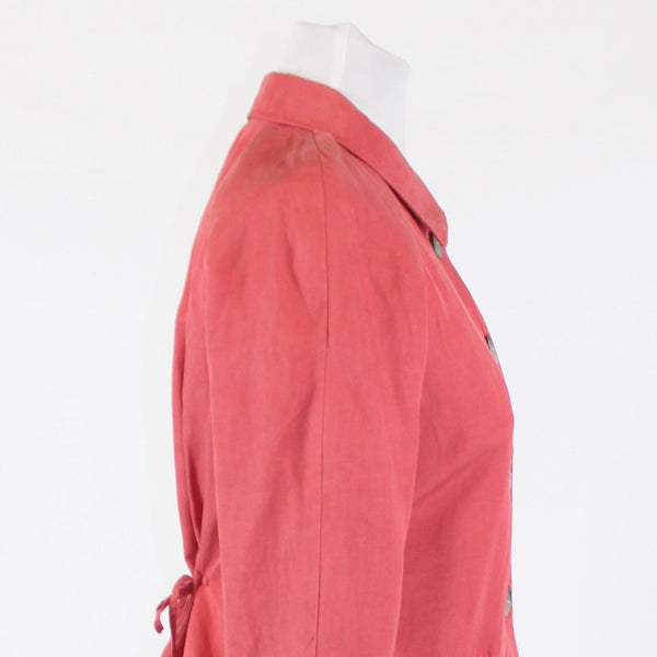 Dark pink silk blend J. JILL 3/4 sleeve button down jacket XS