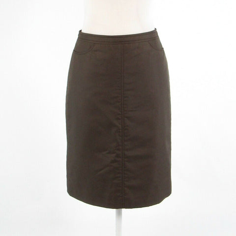 Cool brown MESSY pencil skirt S