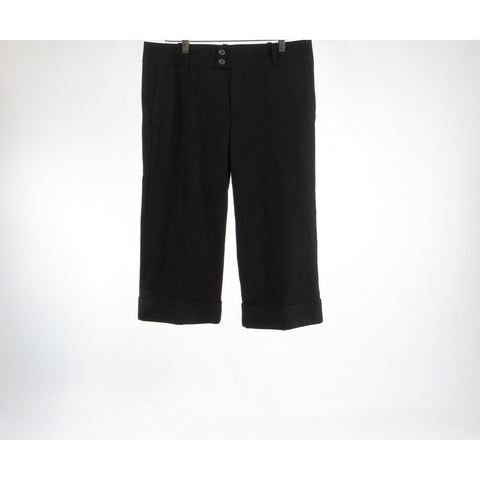Black BANANA REPUBLIC straight leg cropped capri pants 8