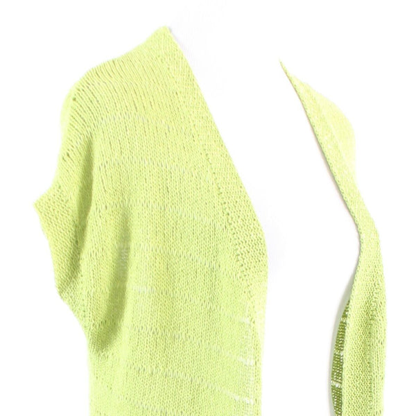Bright green cotton blend COLDWATER CREEK cap sleeve shrug sweater M 10 12