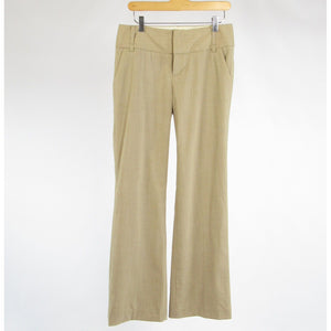 Beige wool blend BANANA REPUBLIC bootcut dress pants 4R