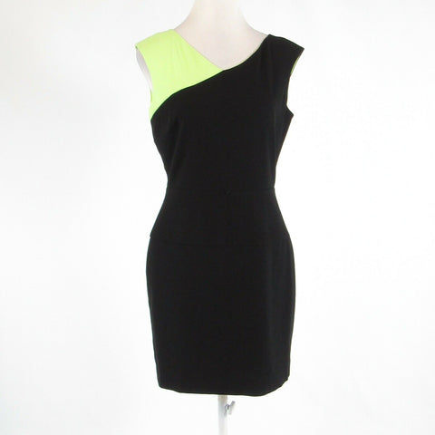 Black green color block CALVIN KLEIN sleeveless sheath dress 6-Newish