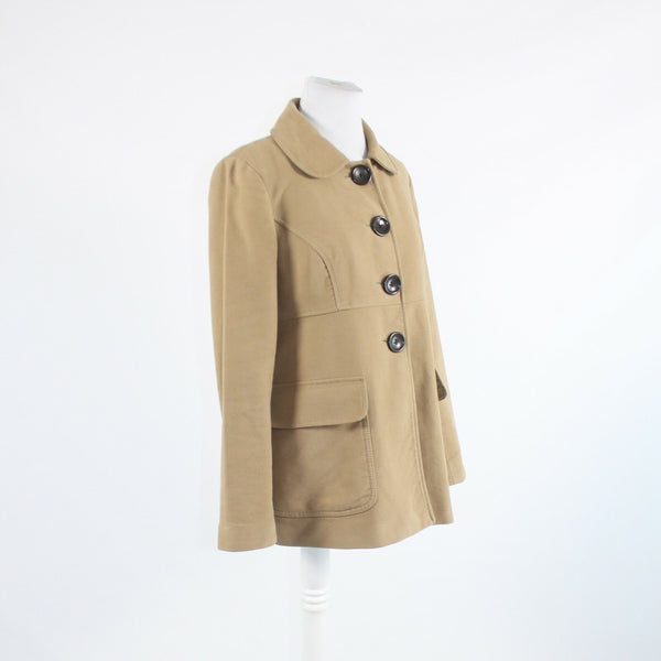 Beige 100% cotton GAP long sleeve button front jacket M