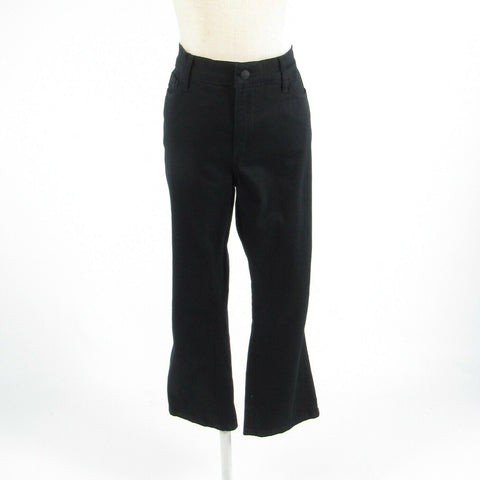Black cotton blend NYDJ Alina stretch cropped capri jeans 12 NWT