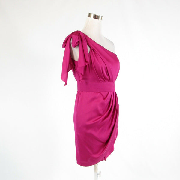 Orchid purple CACHE sleeveless one shoulder dress 6-Newish