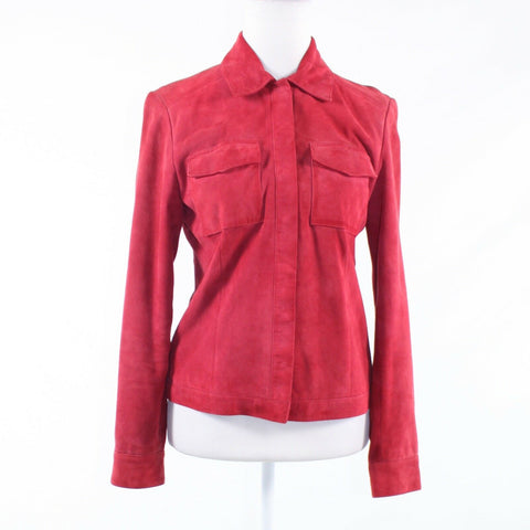 Light red velvet DANA BUCHMAN long sleeve jacket 4