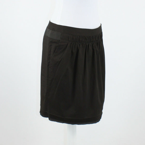 Dark brown stretch cotton blend BANANA REPUBLIC knee-length pencil skirt 10P
