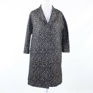 Black gray camouflage DKNY NEW YORK 3/4 sleeve coat 12
