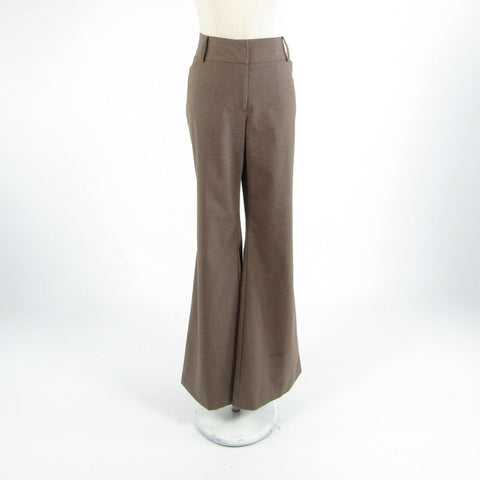 Taupe ANN TAYLOR Curvy stretch wide leg dress pants 6
