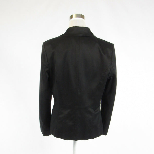 Black cotton blend DAVID MEISTER long sleeve blazer jacket 14-Newish