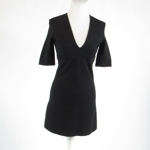 Black BARDOT stretch 1/2 sleeve sheath dress 4 XS