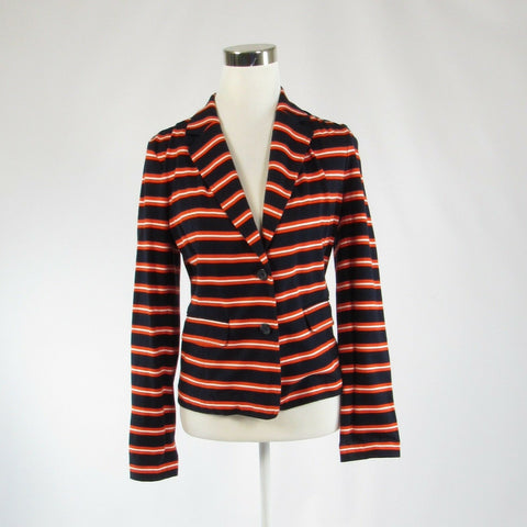 Black orange striped 100% cotton J. CREW long sleeve jacket S