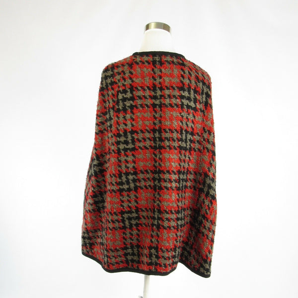 Red black houndstooth VIVIENNE TAM cape 2