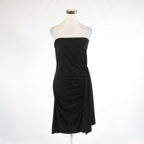 Black ANN TAYLOR stretch strapless sheath dress M-Newish