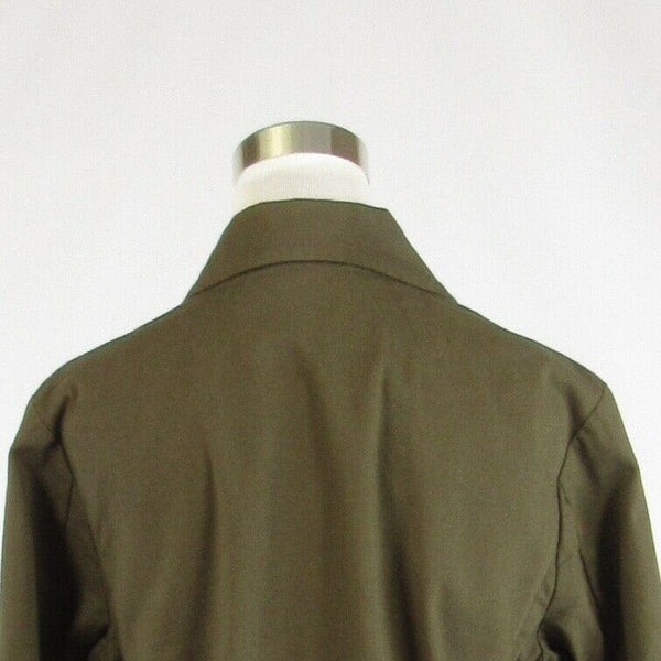 Cool brown cotton blend TALBOTS 3/4 sleeve jacket 12-Newish