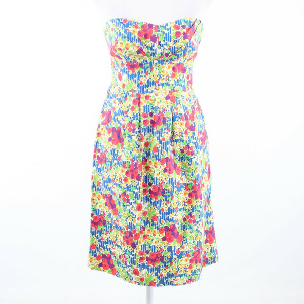 Multicolor floral print 100% cotton ANTHROPOLOGIE GIRLS FROM SAVOY sun dress 2-Newish