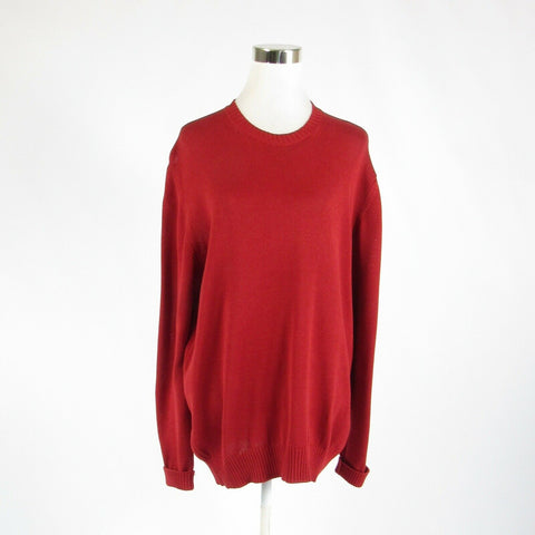 Red 100% cotton FACONNABLE long sleeve crewneck sweater L-Newish