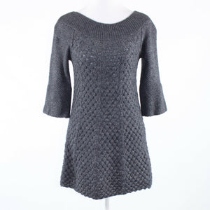 Gray stretch REBECCA TAYLOR 1/2 sleeve sweater dress M-Newish