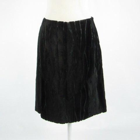 Black burnt out velvet ANNI KUAN A-line skirt 4-Newish