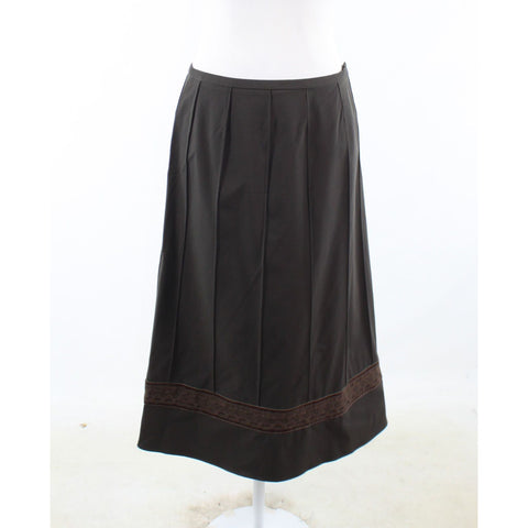 Dark brown DONCASTER peasant skirt 8