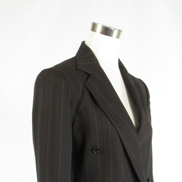 Charcoal gray pinstripe DOLCE and GABBANA long sleeve jacket IT44 10