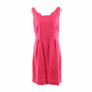 Bright pink linen blend EDME and ESYLLTE sleeveless A-line dress 10